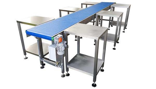 food packing modular conveyor