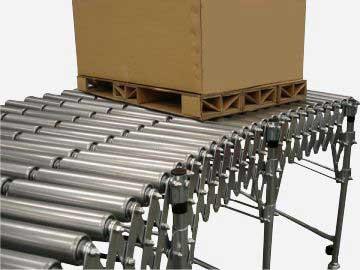 heavy duty flexible roller conveyor
