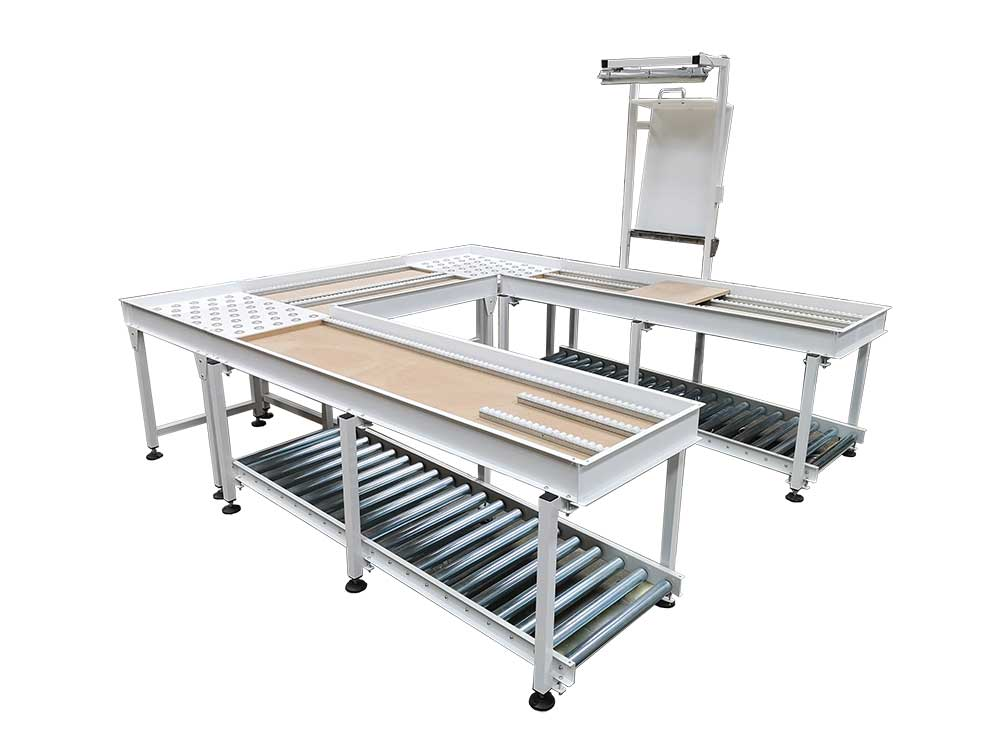 roller conveyor inspection table