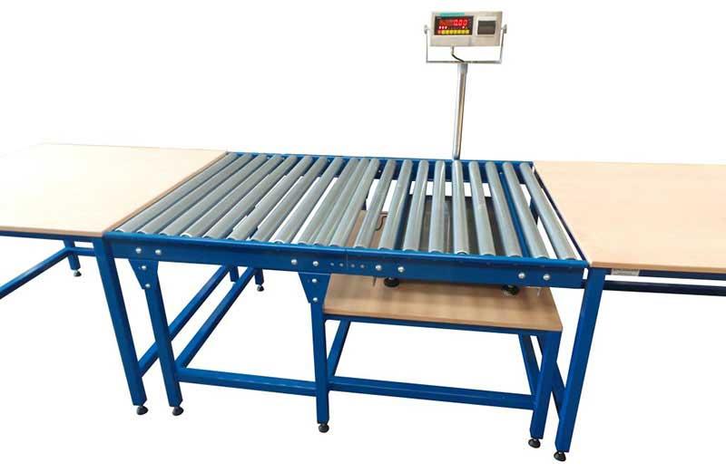 roller conveyor weighing station